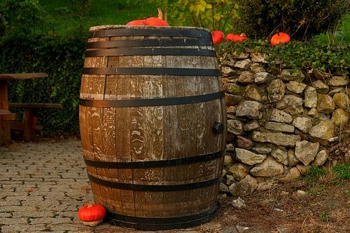 Wine Barrel, Wooden Barrels, Barrel, Wine, Keller