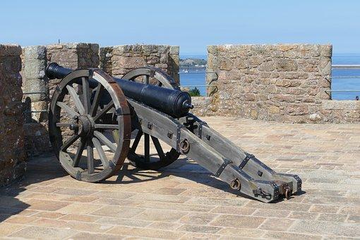 Jersey, Castle, Orgueil, Gun, Weapon, Island Of Jersey