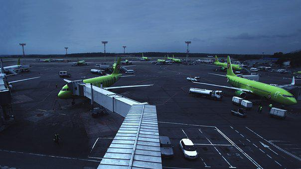 Airport, Domodedovo, Airline, S7, Moscow, Russia, Plane