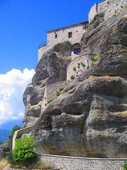 Meteors, Hanging, Monastery, Mountains, Rock, Summer