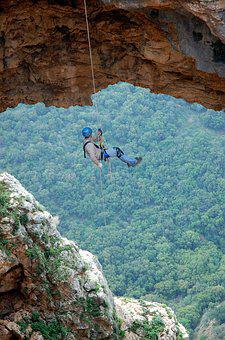 Hang, Mountains, Snepling, Rope, On A Rope, View