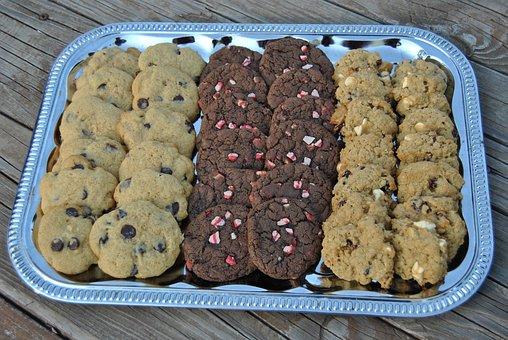 Cookies, Platter, Chocolate Chip, Dessert, Food, Sweet