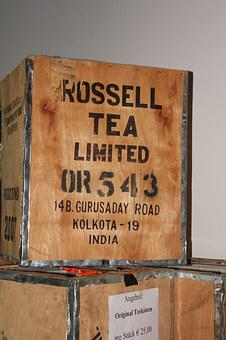 Tea Chests, Merchandise, Wooden Box, Transport Crate