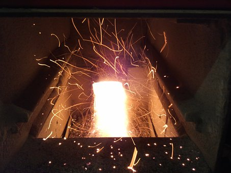 Inferno, Fire, Flame, Wood Burning Stove, Wood Chips