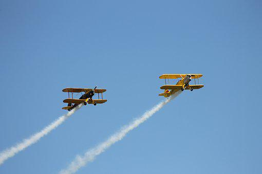 Double Decker, Flugshow, Flyer, Aircraft, M17, Flight