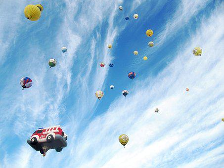 Ballons, Hot Air Balloons, Montgolfiade