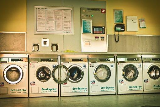 Launderette, Washing Machines, Wash, Laundry, Clothing