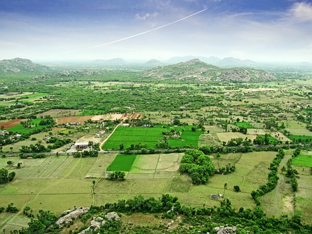 Landscape, East India, High View, Surface, India, Rural