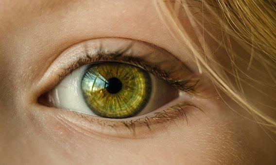 Eye, Green Eye, Close Up, Macro, Girl, Young, Green