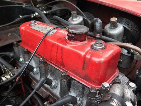 Oldtimer, Engine, Motor, Mg, Mg Engine
