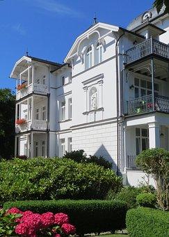 Villa, Facade, White, Architecture, Architectural Style