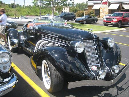Car, Antique, Vintage, Classic, Restored, Old