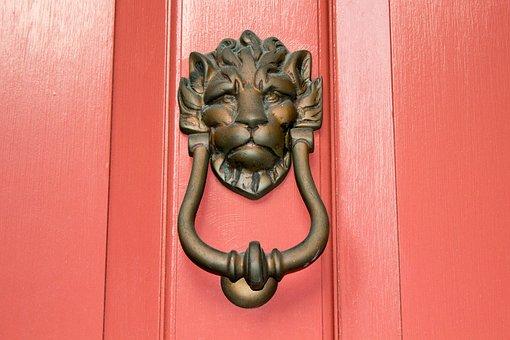 Door Knocker, Lion, South, Charleston, Door, Knocker