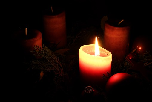 Advent, Advent Wreath, Christmas, Candle, Flame
