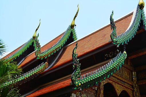Temple, Roof, Thailand, Old, Buddhism, Culture