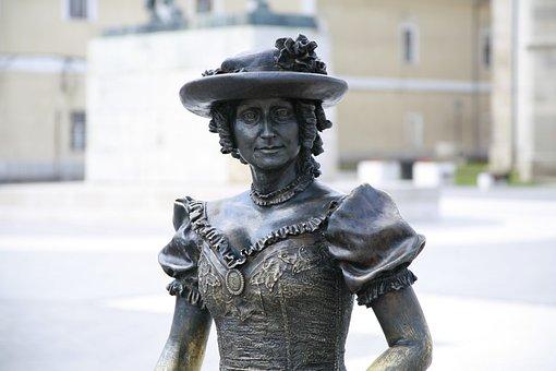 Bronze Statues, Alba Iulia, Figure, Metal, Woman