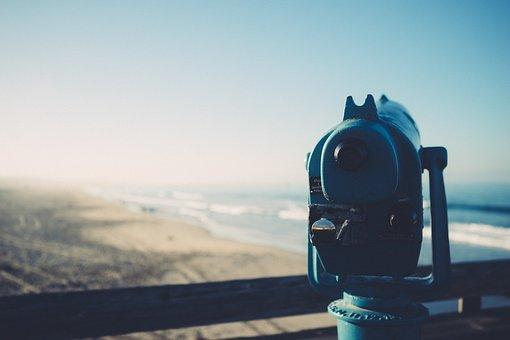 Telescope, Spyglass, Artillery, Zoom, View, Ocean