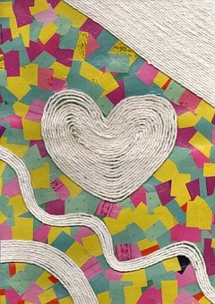 String, Heart, Collage