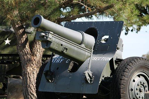 Howitzer, Artillery, U S, Army, Weapon, Combat, War