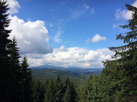 Beskydy, Panorama, Lysa Hora, Clouds, Heaven, Forest