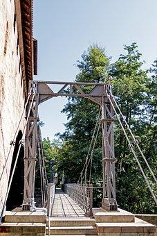 Kettensteg, Bridge, River, Nuremberg, Old Town, Pegnitz