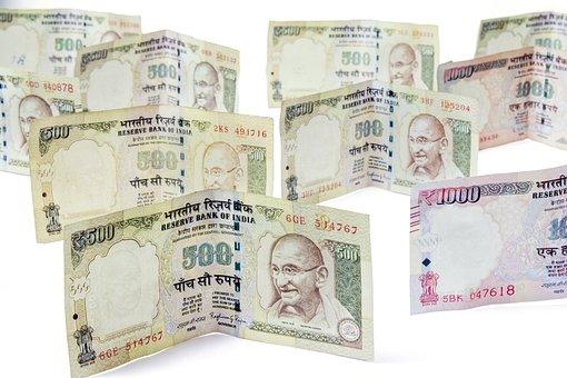Money, Moneycity, 500, Rupees, Notes, Cash, Income