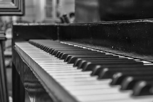 Piano, Keys, Instrument, Music, Close, White, Black
