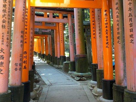 Japan, Fushimiinari, Tori, Kyoto, Temples, Buddhism