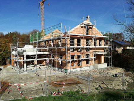 Construction, Scaffold, House Construction