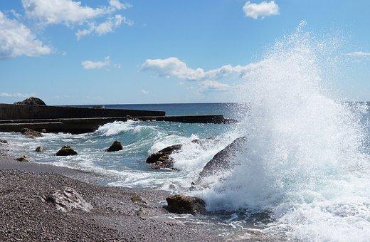 Crimea, Wave, Black, Sea, Pierce, Beach, Ukraine
