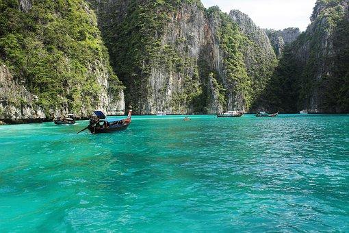 Ko Phi Phi Lee, Thailand, Beaches, Waters, Blue Lagoon