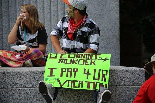Man, Protest, Sign, V For Vendetta, People, Challenge
