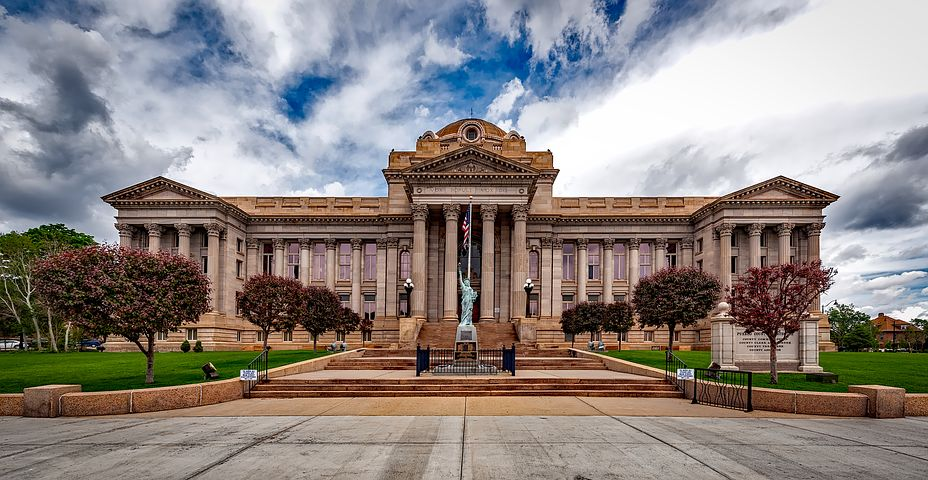 Pueblo, Colorado, Courthouse, City, Urban, Landmark