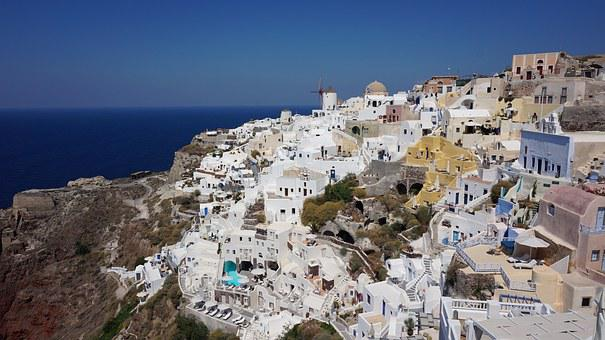 Greece, Sea, Beach, Santorini, View, Seascape, Will