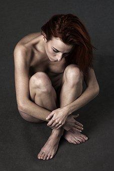 Girl, Ruda, Depression, Sadness, The Closure Of, Body
