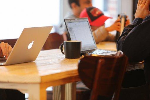 Notebooks, Cafe, Blog, Mobile, Businessmen, Social