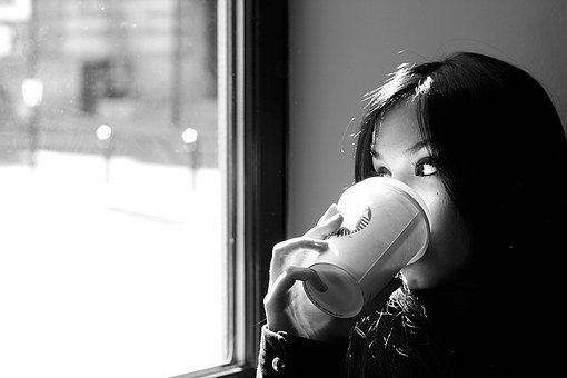 Coffee, Woman, Drink, Benefit From, Cafe, Nostalgia