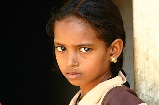 Indian, Girl, Child, Student, Face, Portrait