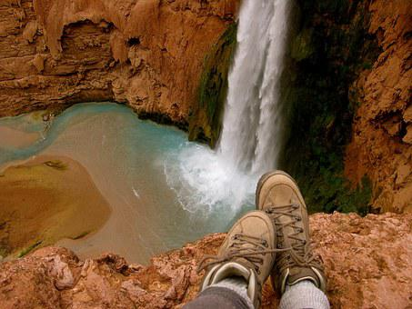 Waterfall, Hiking, Nature, Adventure, Hike, Summer