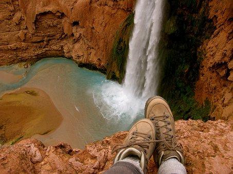 Waterfall, Hiking, Nature, Adventure, Hike, Summer