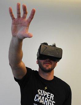Man, Virtual Reality, Oculus, Device, Virtual