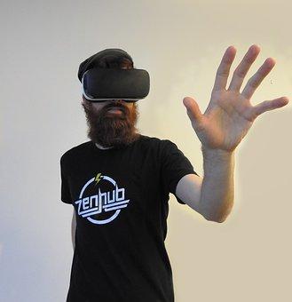 Man, Virtual Reality, Samsung Gear, Vr, Technology