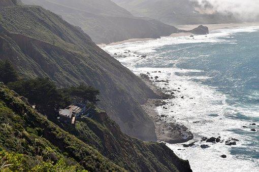 Big Sur, California, Ocean, Beach, Roadtrip, House