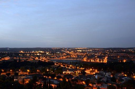 Night, Landscape, Toledo, Trip, City, Lighting
