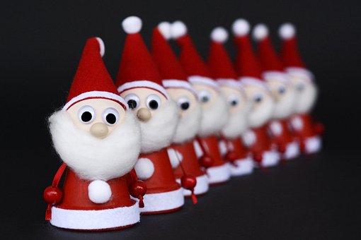 Nicholas, Fabric, Santa Claus, Advent, Red