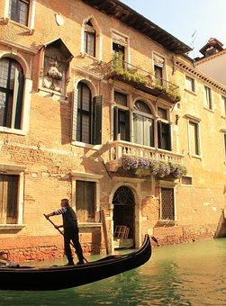 Channel, Gondola, Crossing, Water