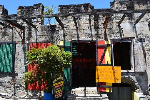 Rock Cafe, Bar, Exterior, Caribbean, Dominica, Doors