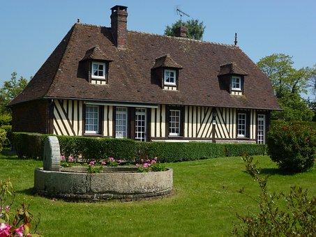 Barville, Eure, France, Farmhouse, Timber Framing