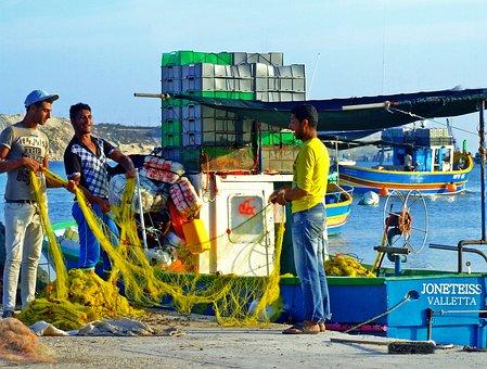 Fishing, Fishing Boat, Fishing Nets, Fishermen, Boat