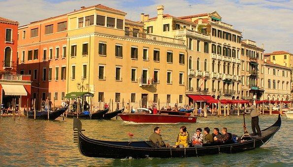 Gondola, Venice, Kanale Grande, Water
